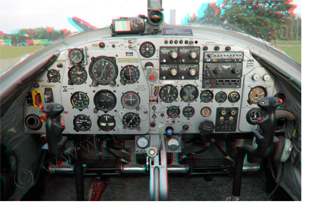 3D anagliep cockpit
